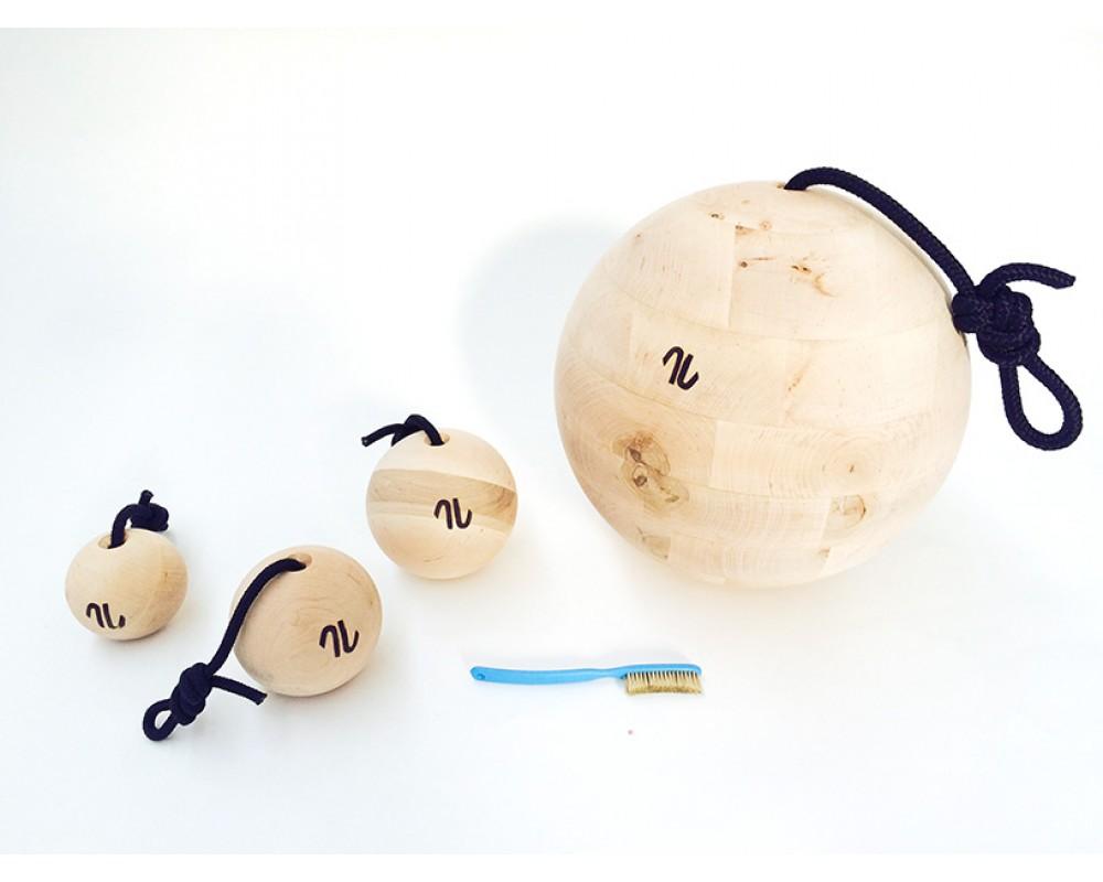 Kæmpe træningskugle til klatring - Artline Ball wood/træ 30.0 cm
