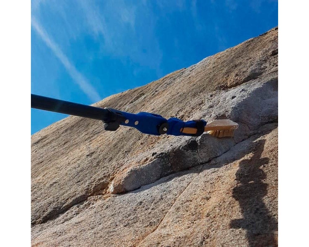 Teleskopstav med børste til boulder