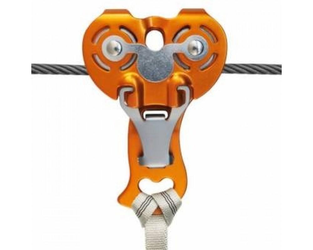 Rulle til svævebane Zip Evo pulley fra Kong