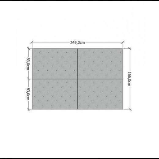 4 kvadratmeter klatrevæg med klatregreb i forskellige farver