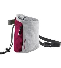Kalkpose til klatretræning i grå og bordeaux