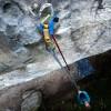 Beta Stick Sport Standard i brug på klippe