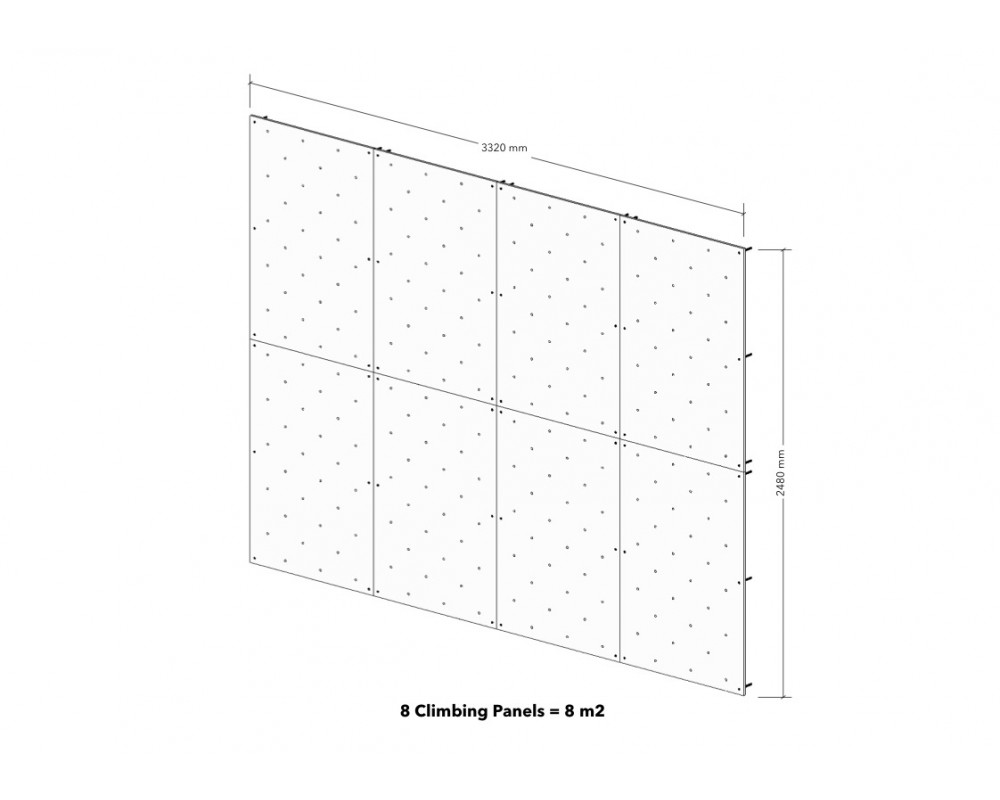 8m2 Climbing Panels
