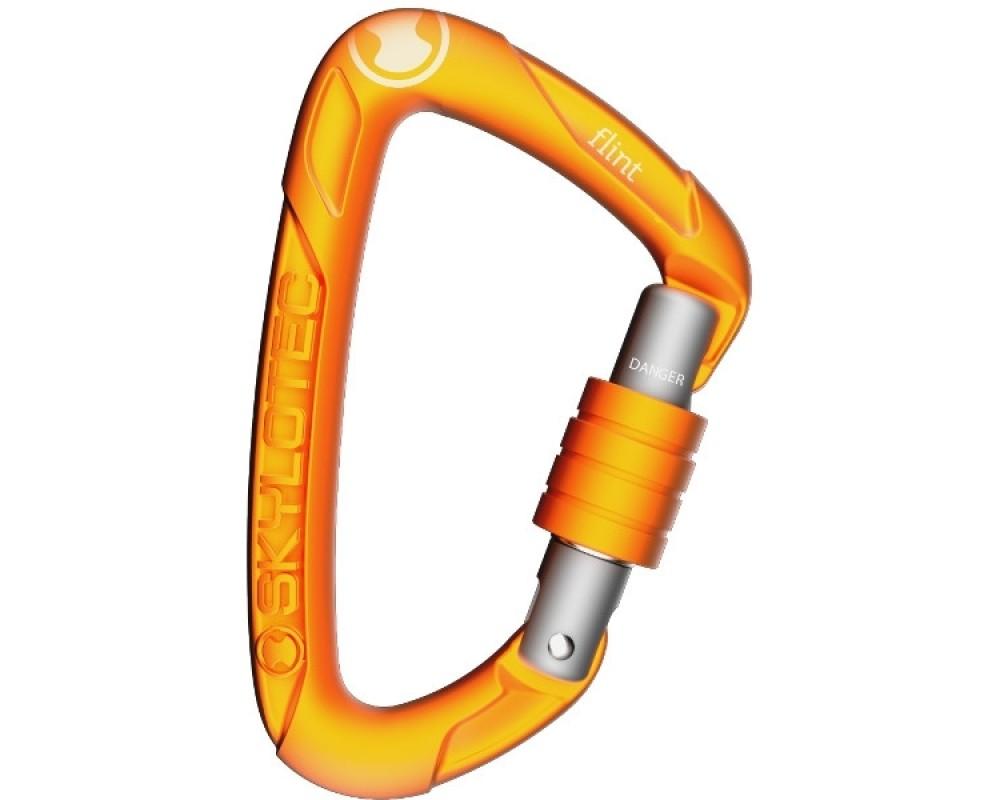 Handy karabin med skruelukke - Basis Karabinhage Flint Screw - orange