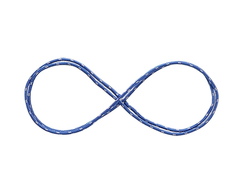 3 mm Prusiksnor - Metermål blå