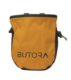 Kalkpose fra Butora i gul med logo/symbol til klatring
