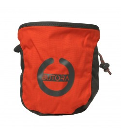 Butora kalkpose i orange med symbol/logo