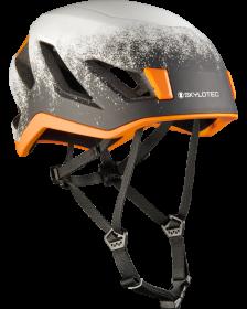Klatrehjelm fra Skylotec VISO i grå og orange hjelm til udendørsaktivitet