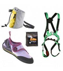Startpakke med klatreudstyr i høj kvalitet til børn