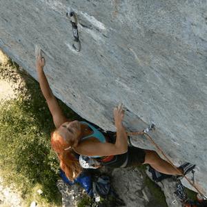 Edita Vopatová climbing